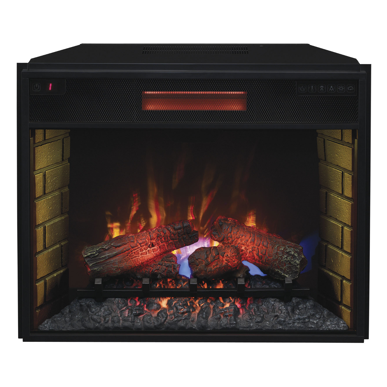 classic 28 quot 28ii300gra infrared electric fireplace