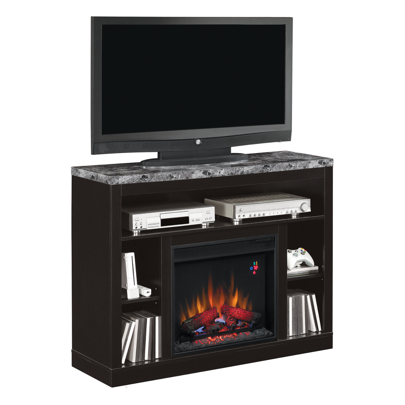 Classic Flame Adams 23mm1824 X445 Infrared Electric Fireplace Media Console Electric Fireplaces