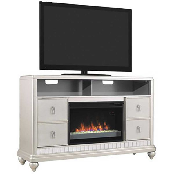 Classic Flame Diva Electric Fireplace Media Mantel 26mm7801 T415 Silver Electric Fireplaces
