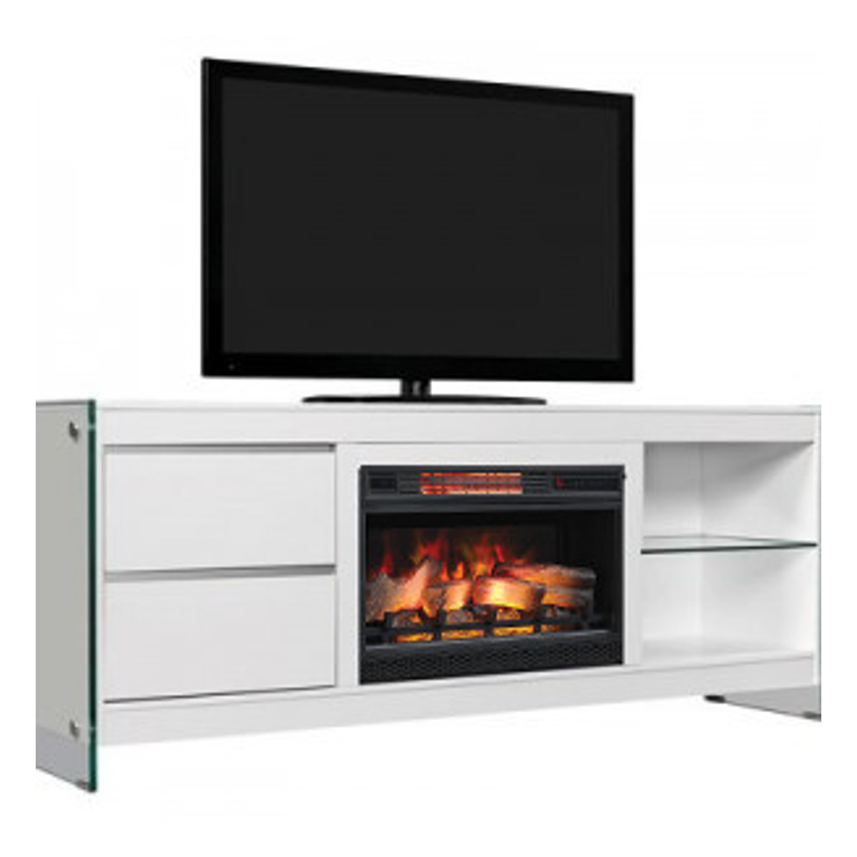 Classic Flame Biscayne Media Mantel 26mm6501 T411 White Electric Fireplaces