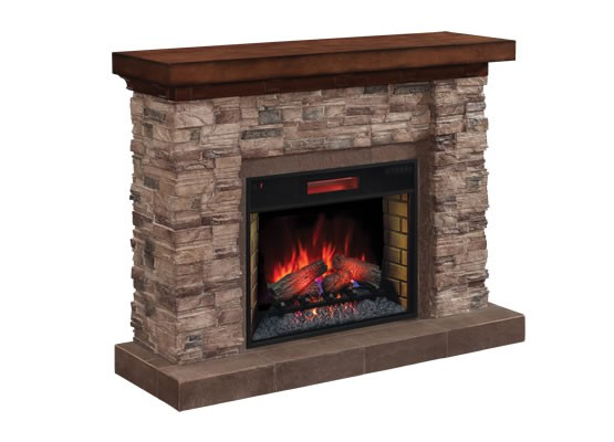 classic flame stacked stone 28wm9185 s250 electric