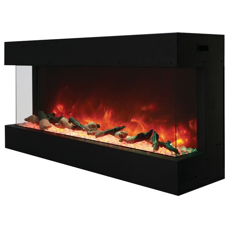 Amantii 50 50 Tru View Xl 3 Sided Indoor Or Outdoor Electric Fireplace Electric Fireplaces