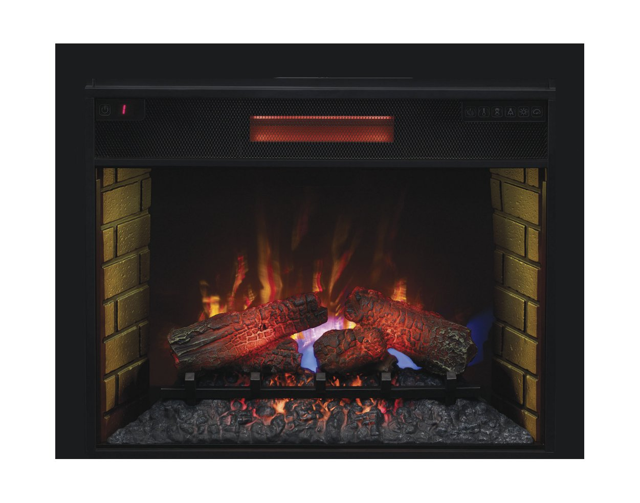 sale electric on decor with ip fireplace flame walmart com mantle
