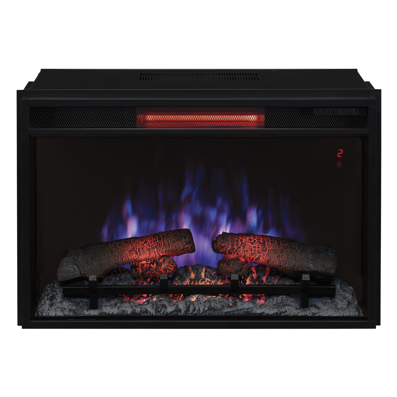 """Classic Flame 26"""" 26II310GRA Infrared Electric Fireplace ..."""