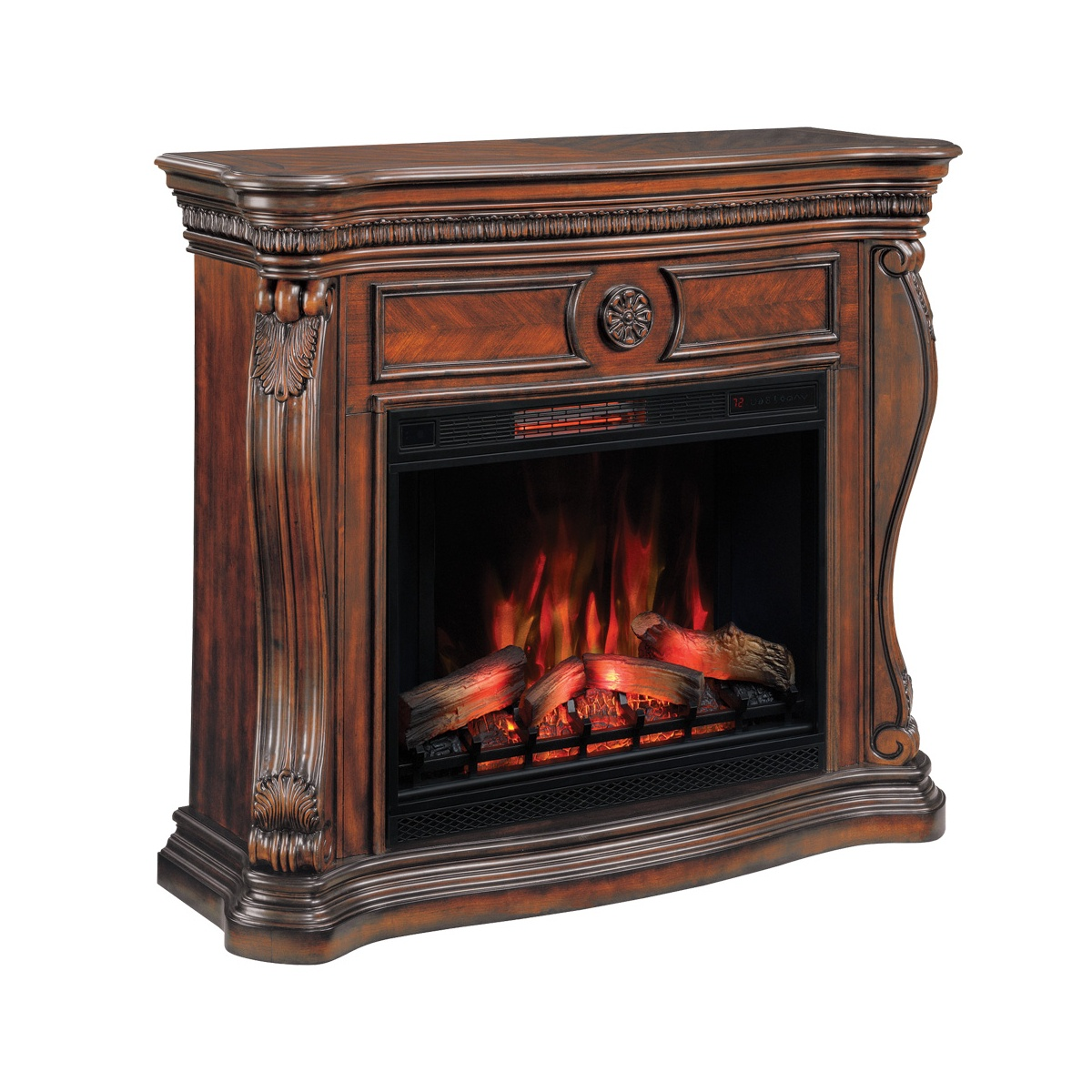 classic flame lexington electric fireplace wall mantel in empire cherry