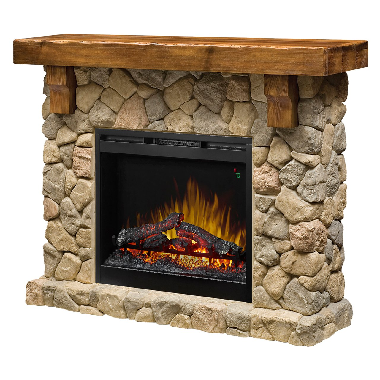 Dimplex fieldstone smp 904 st electric fireplace wall for Diy rock wall fireplace