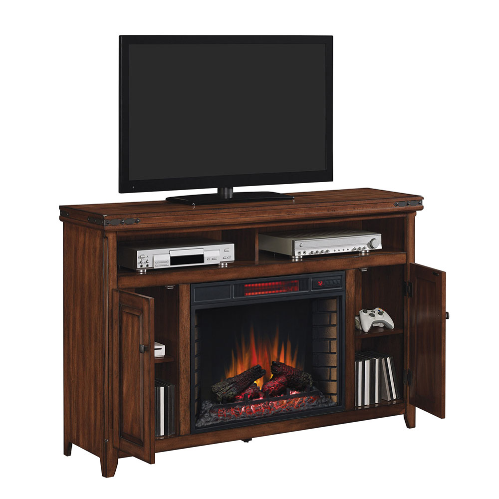 Classic Flame Mayfield Media Mantel 28mm9644 X332 Enormous Cherry Electric Fireplaces