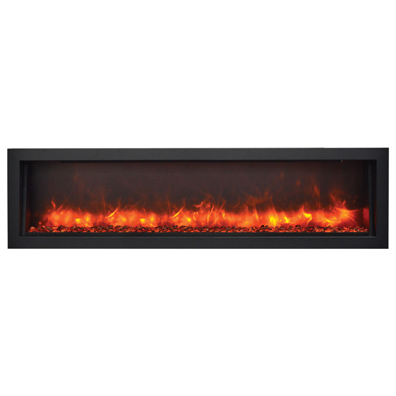 Amantii 60 Bi 60 Slim Indoor Or Outdoor Electric Fireplace Electric Fireplaces