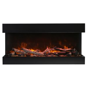amantii true view xl 3 sided electric fireplace 50 inches wide