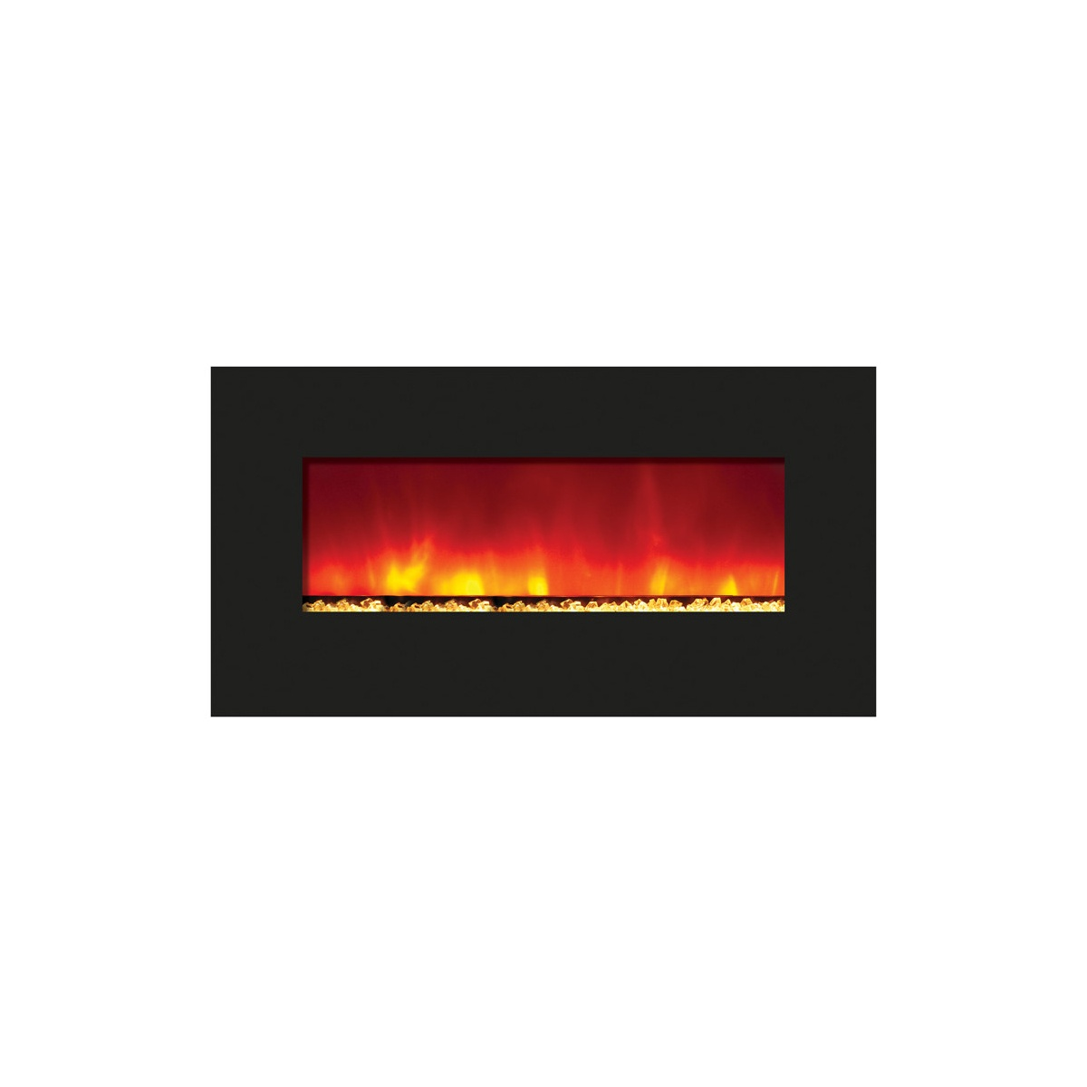 amantii 34 inches wide contemporary electric fireplace insert with glass embers final sale no returns