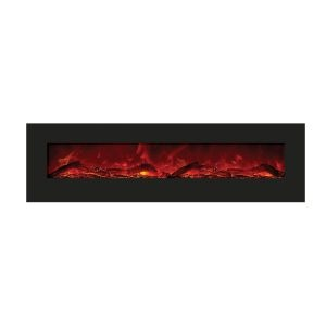 amantii 72 inches wide contemporary electric fireplace insert final sale no returns