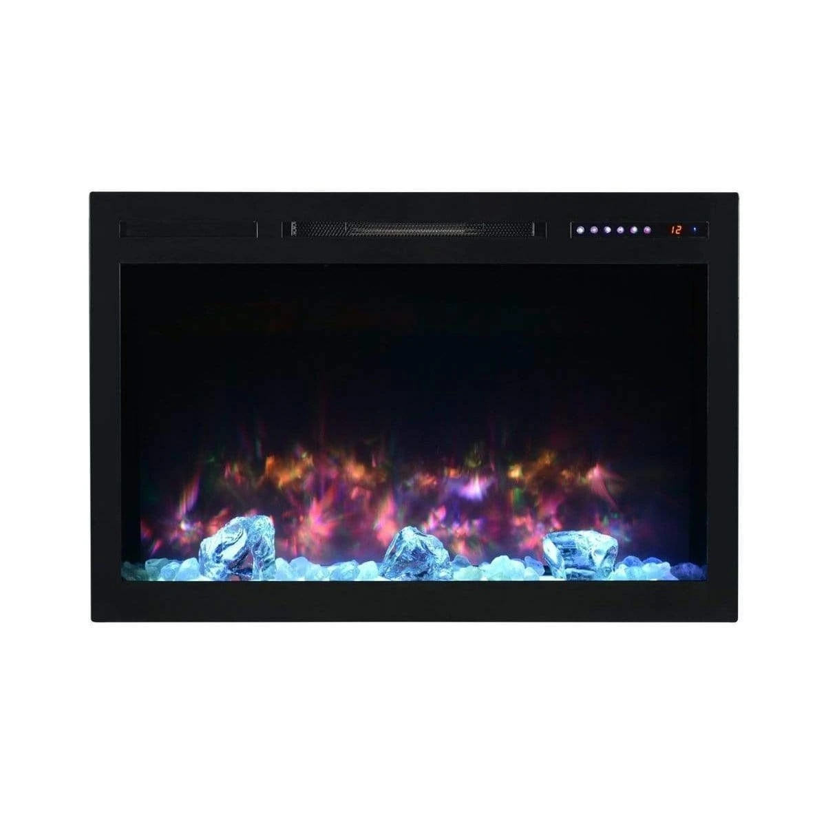 modern flames 36 inch contemporary electric fireplace with large flame viewing area