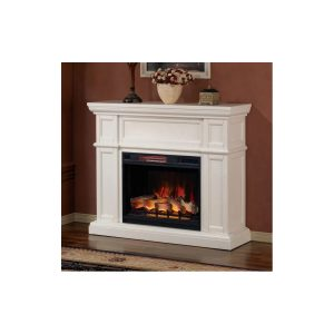 classic flame classic white wall mantel with electric fireplace