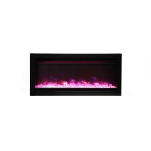 amantii SYM-34 contemporary electric fireplace wall insert or wall hanging