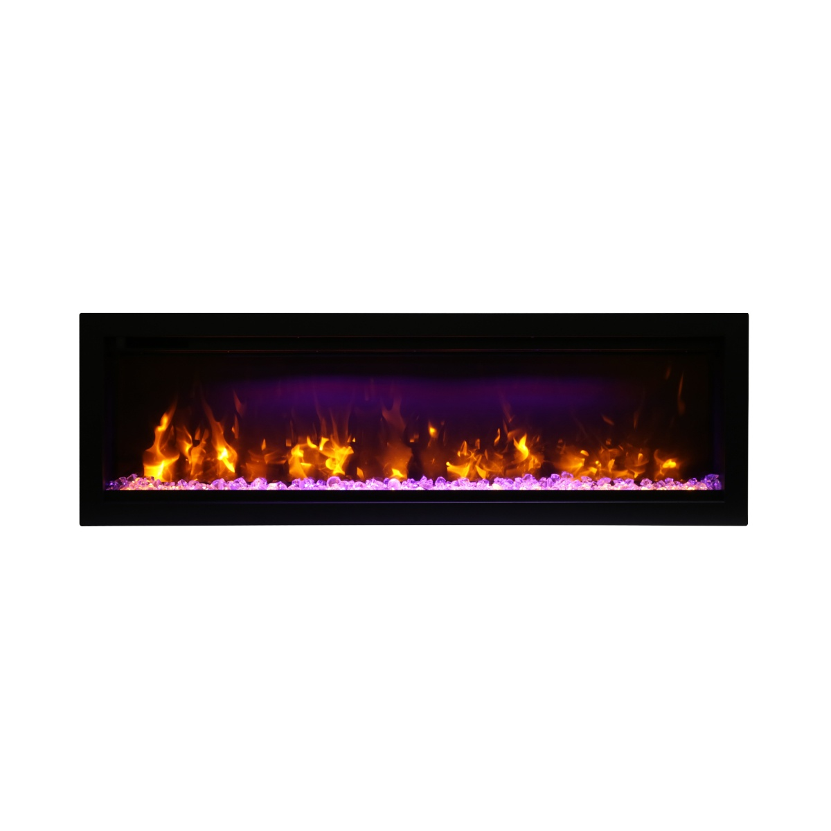 amantii sym-50 built in contemporary electric fireplace insert with glass embers