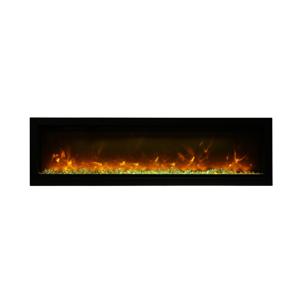 amantii SYM-60-B contemporary electric fireplace wall insert from the symmetry series