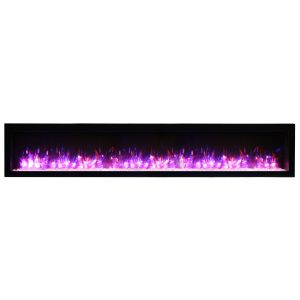 amantii SYM 88 inch electric fireplace contemporary wall insert from the symmetry series