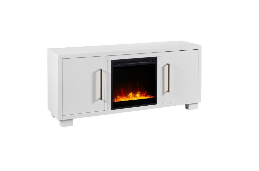 Dimplex Shelby White Tv Stand Electric Fireplace By C3