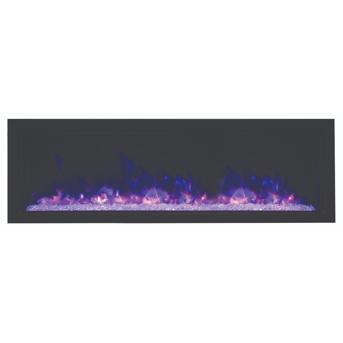 amantii 50 inch extra slim contemporary electric fireplace insert
