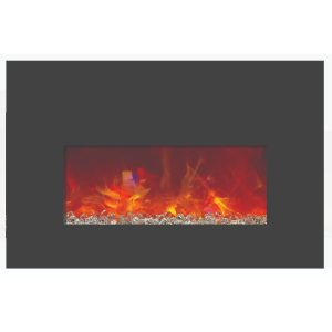 amantii contemporary electric fireplace insert for converting traditional fireplaces to electric complete with glass embers