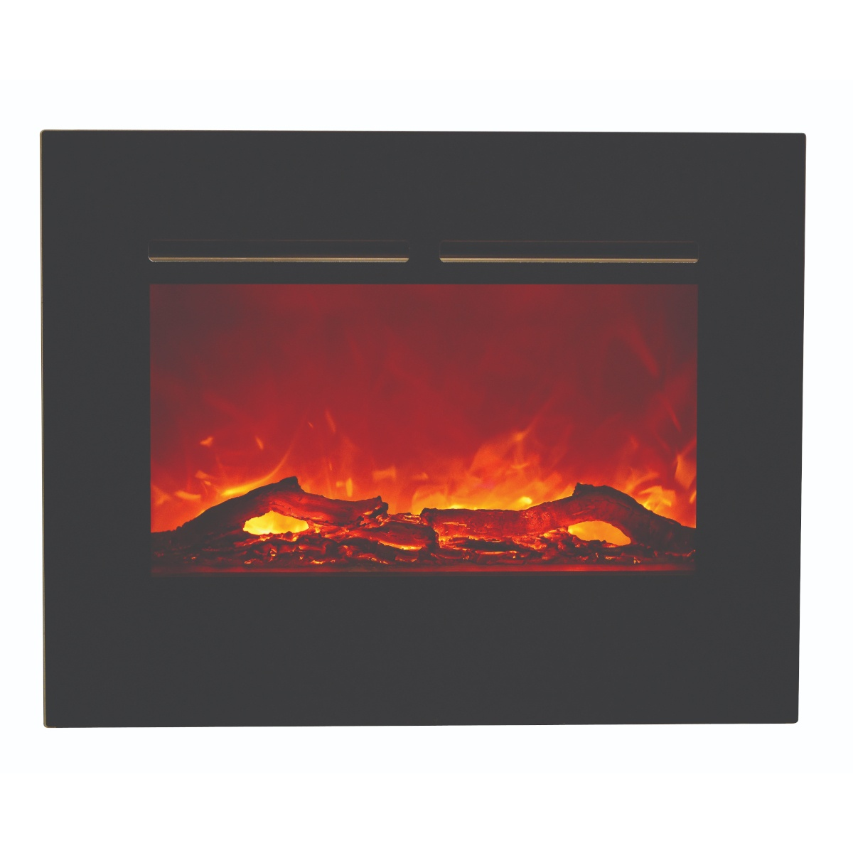 amantii 26 inch zero clearance electric fireplace insert flush mount with logs and orange flame
