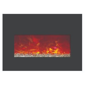 amantii contemporary electric fireplace insert for mantel or existing fireplace