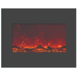 amantii 26 inch zero clearance electric fireplace insert with logs perfect for new construction and remodels