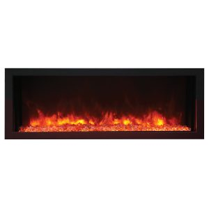 remii 55 inch wide linear electric fireplace extra slim design