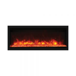remii 55 inches wide extra tall contemporary electric fireplace insert with orange flames and glass embers
