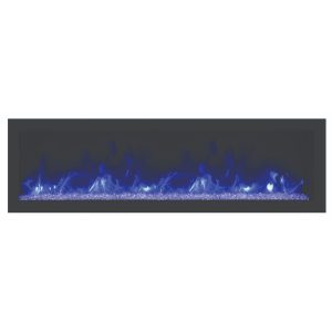 remii 55 inch contemporary electric fireplace deep
