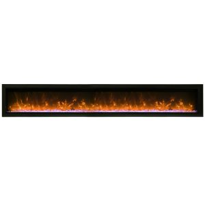 remii 100 inch long linear electric fireplace contemporary design