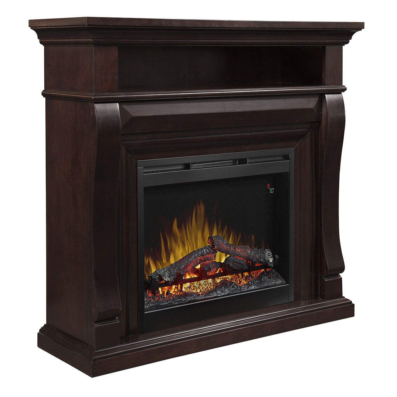dimplex Noah corner electric fireplace wall mantel