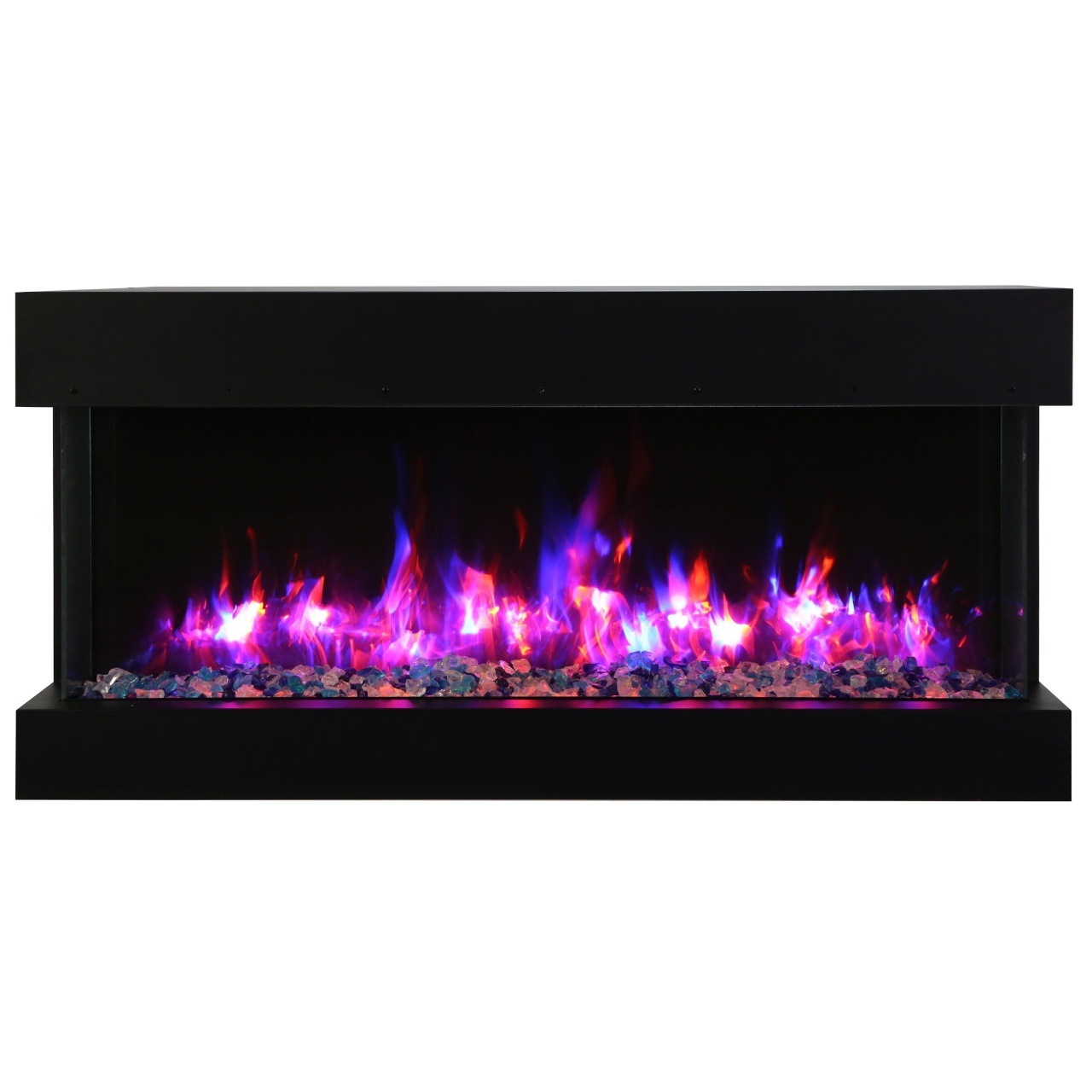 amantii contemporary slim electric fireplace