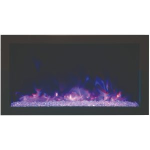 amantii 30-inch extra slim contemporary built-in electric fireplace