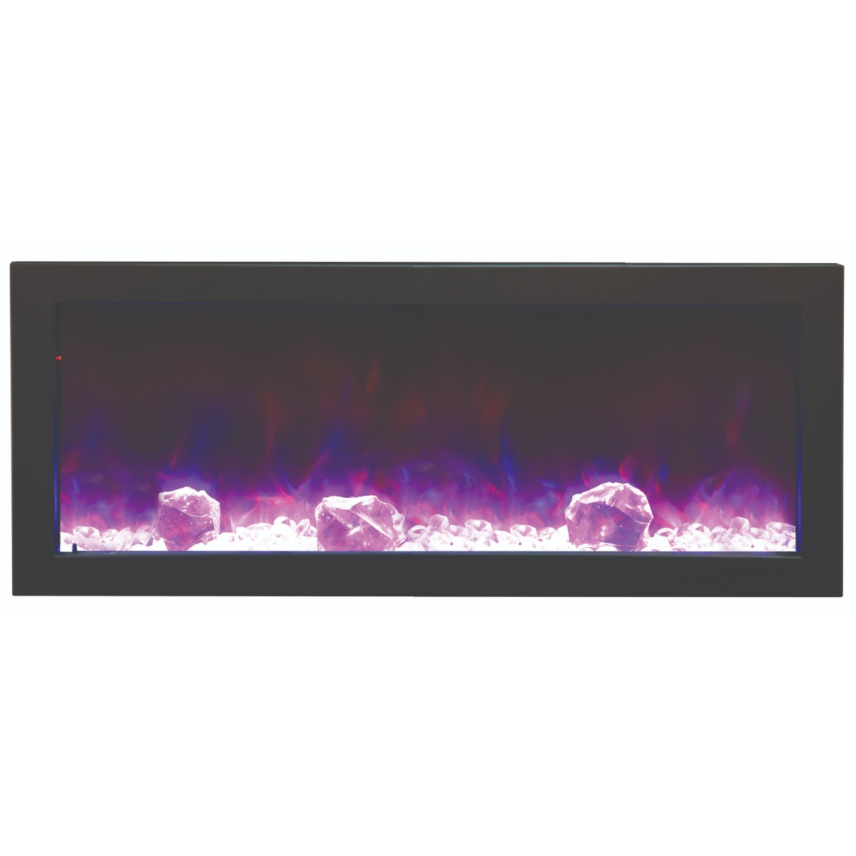 amantii 40 inch slim contemporary electric fireplace from the panorama series