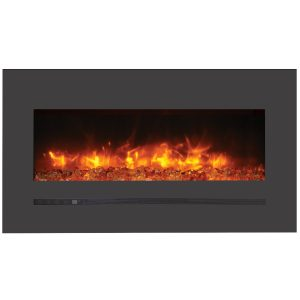 34 inch amantii sierra flame linear electric fireplace built in or wall mount