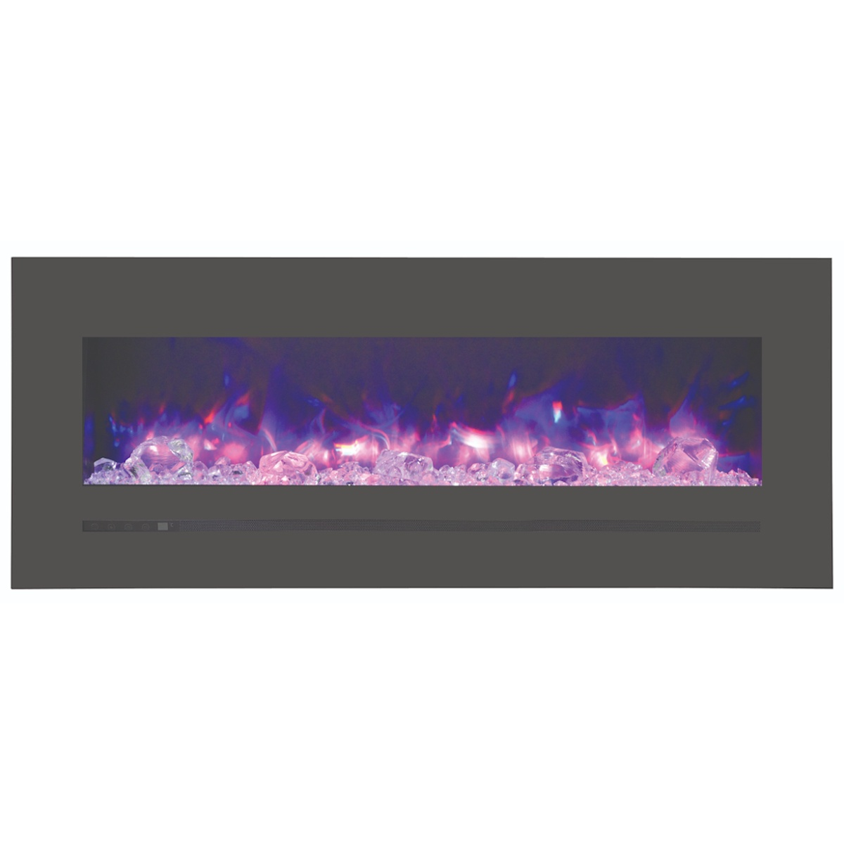 48 inch amantii sierra flame linear electric fireplace wall mount or wall recessed