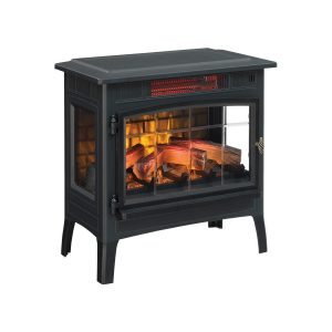 Duraflame Black Freestanding Electric Stove Heater