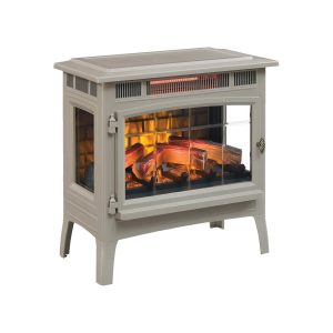 Duraflame French Gray Freestanding Compact Electric Stove Heater