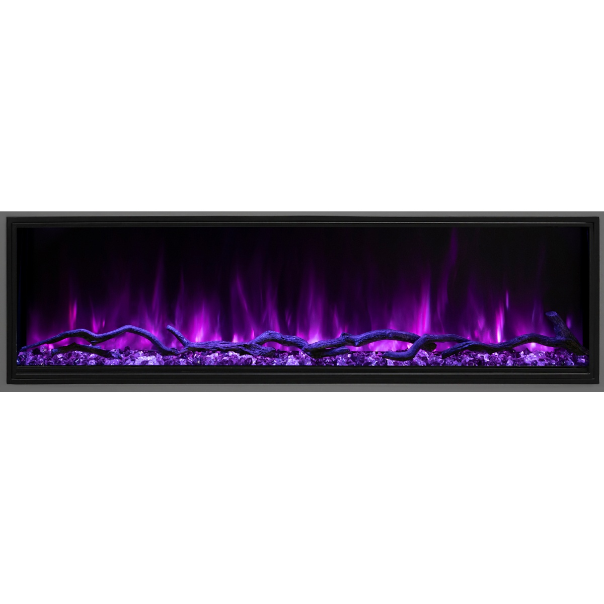 modern flames 44 inch linear slim electric fireplace hidden controls