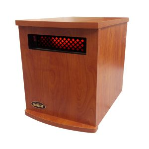 American Made Infrared Cabinet Portable Heater on Rollers by SUNHEAT USA1500-M Cherry