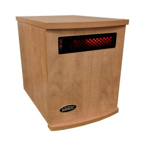 American Made Infrared Cabinet Portable Heater on Rollers by SUNHEAT USA1500-M Maple
