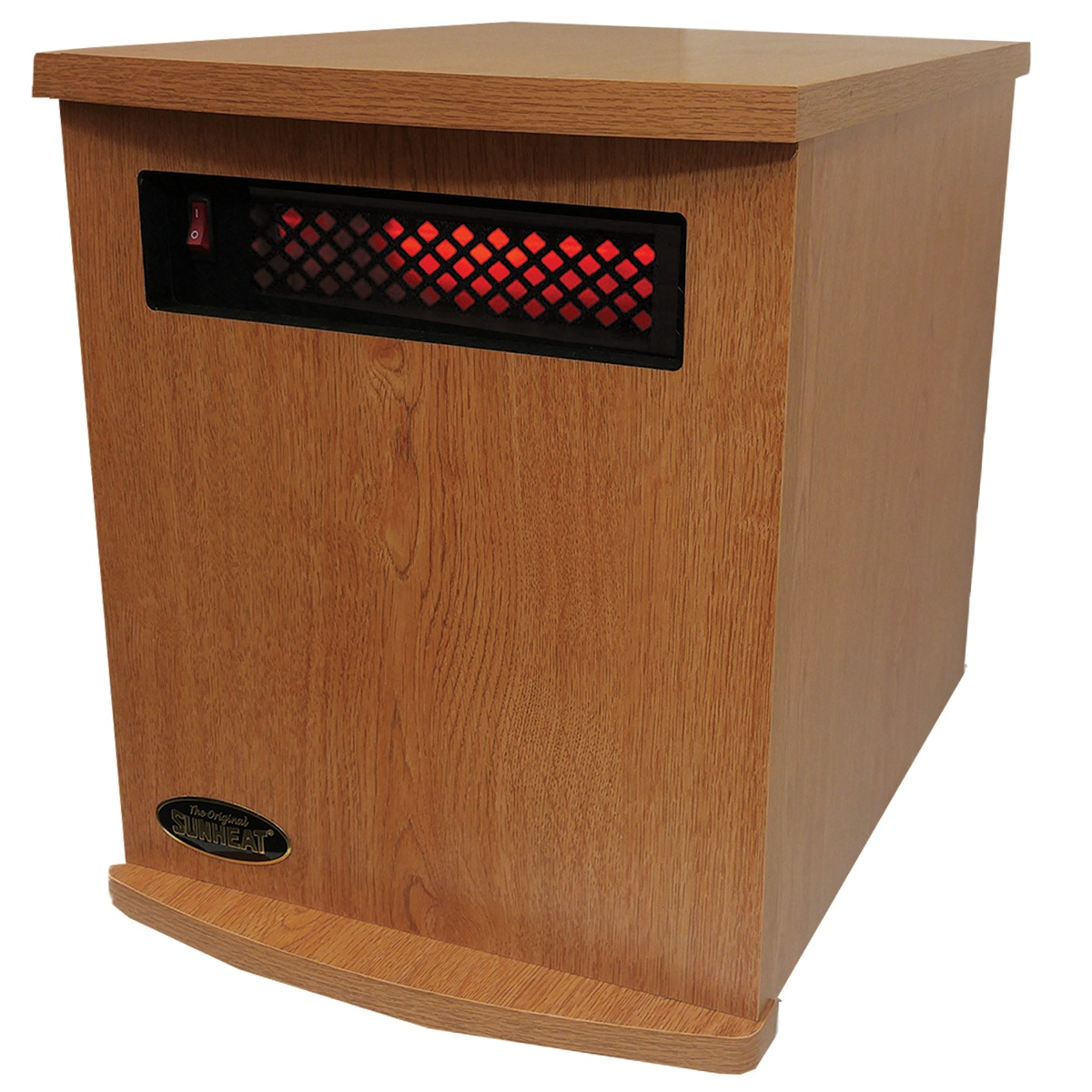 American Made Infrared Cabinet Portable Heater on Rollers by SUNHEAT USA1500-M Oak