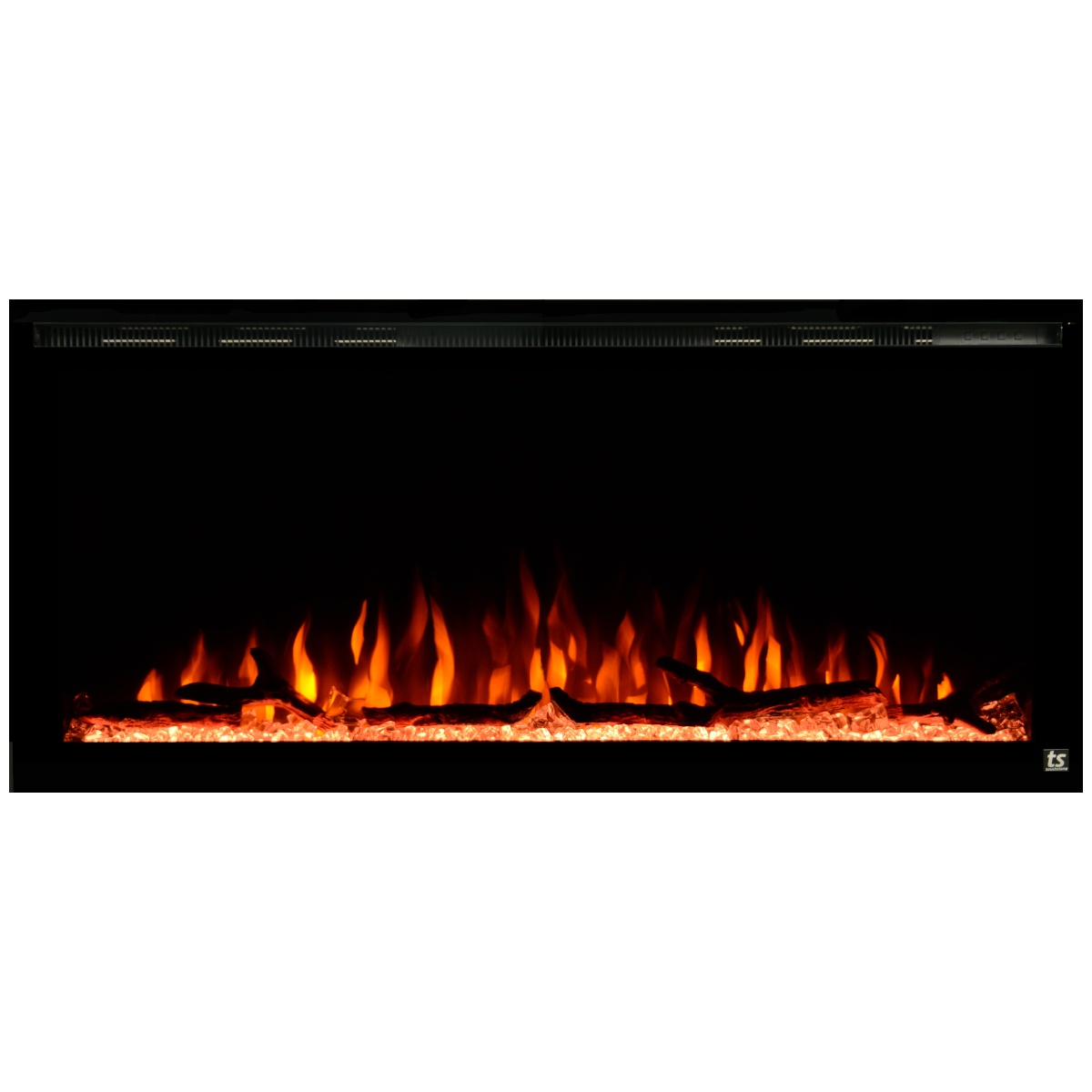 touchstone sideline elite 42 inch wall recessed electric fireplace