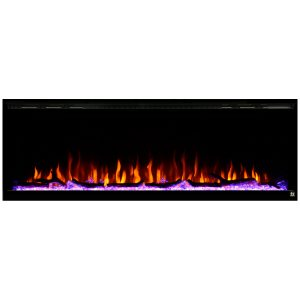 touchstone sideline elite 60 inch wall recessed electric fireplace