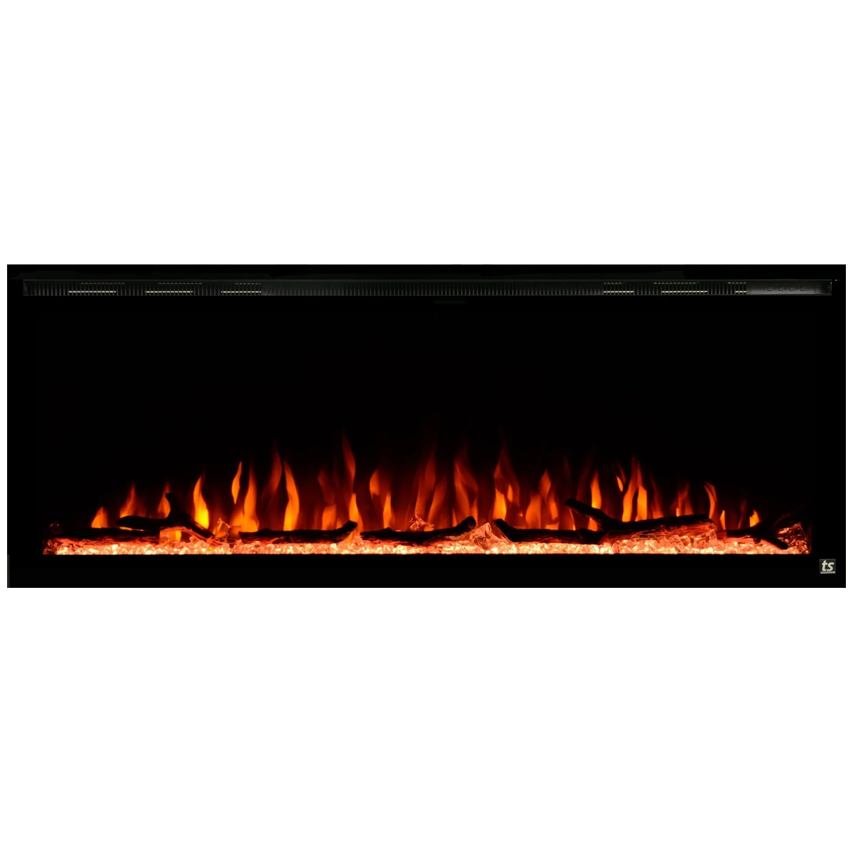 touchstone sideline elite 72 inch linear electric fireplace
