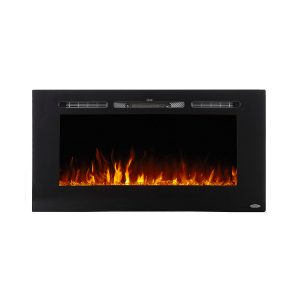 40 inch modern electric fireplace with orange flame effects
