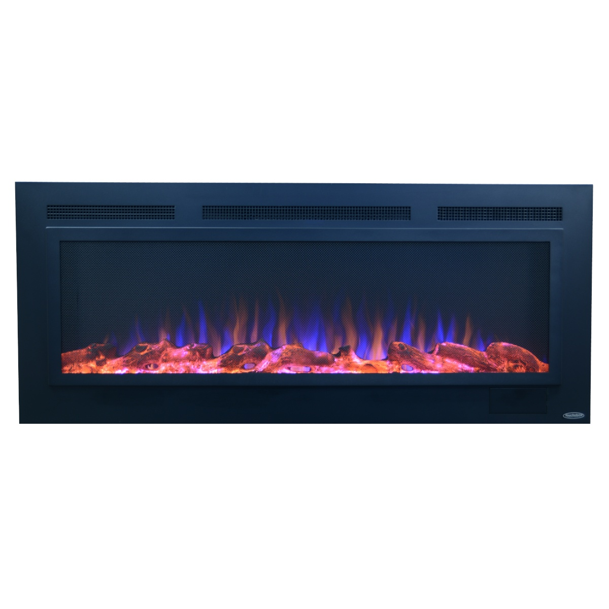 touchstone sideline 50 inch electric fireplace with steel front