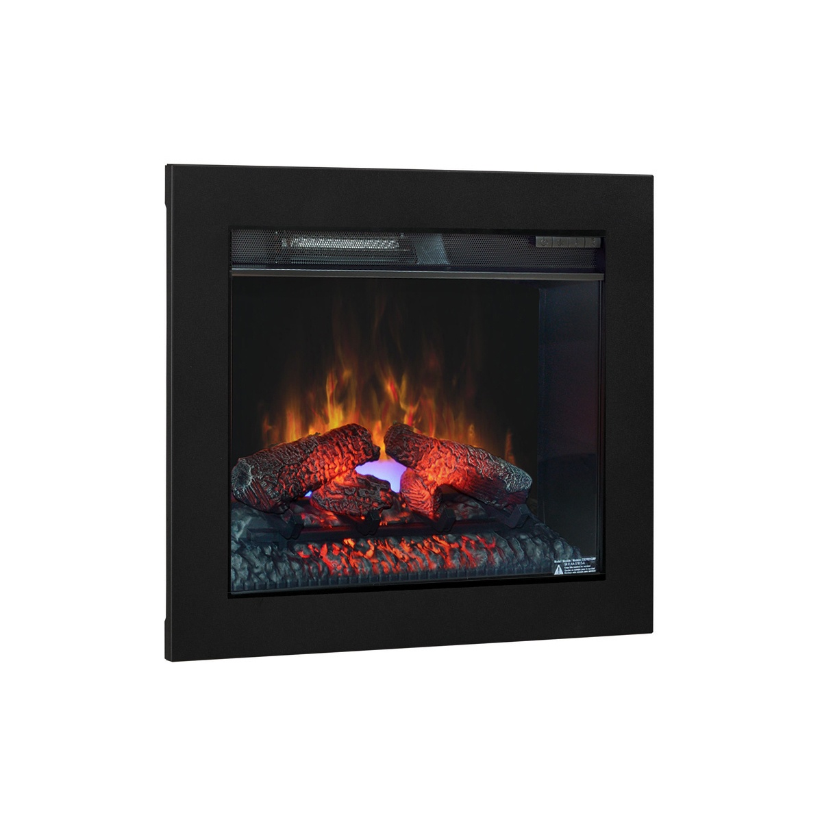 23 inch classic flame electric fireplace insert with black metal finishing trim