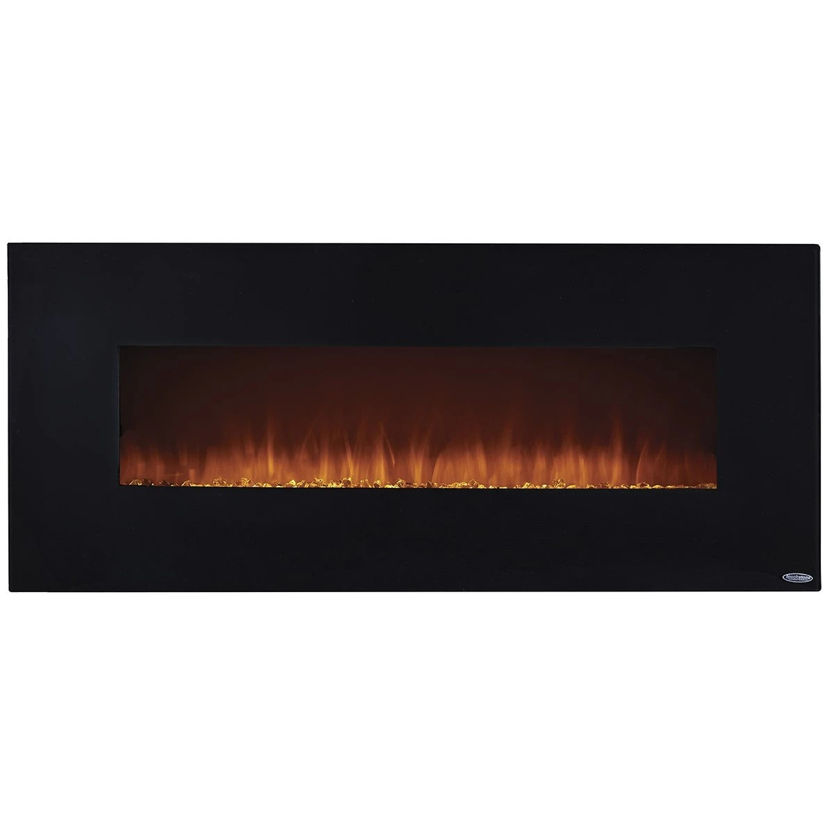 touchstone onyx electric fireplace with black surround trim